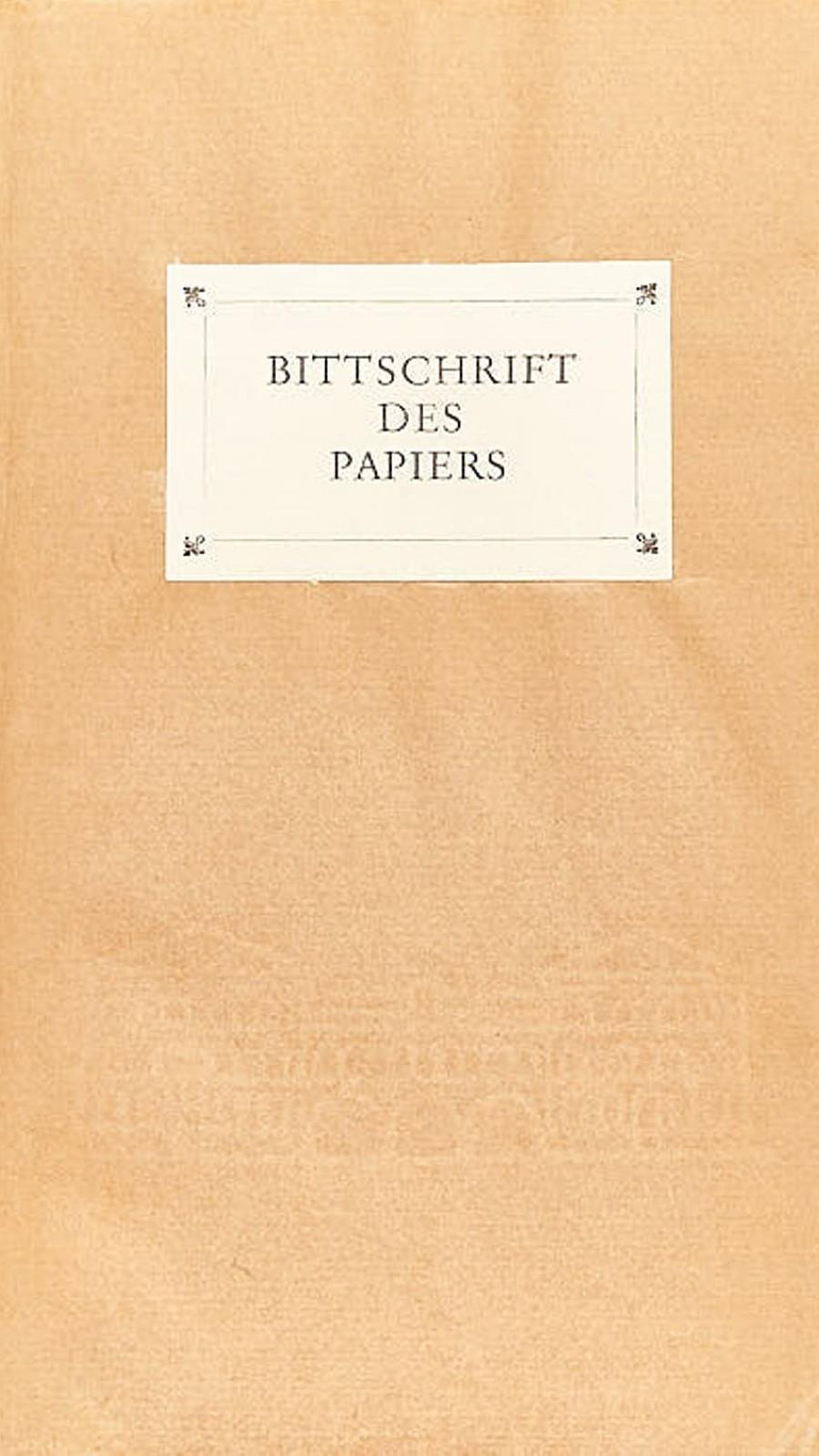 Bittschrift des Papiers