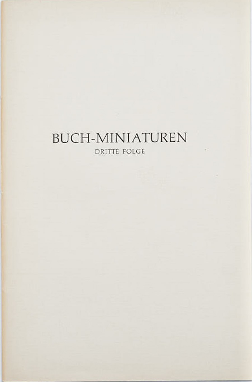 Buch-Miniaturen. Folge 3