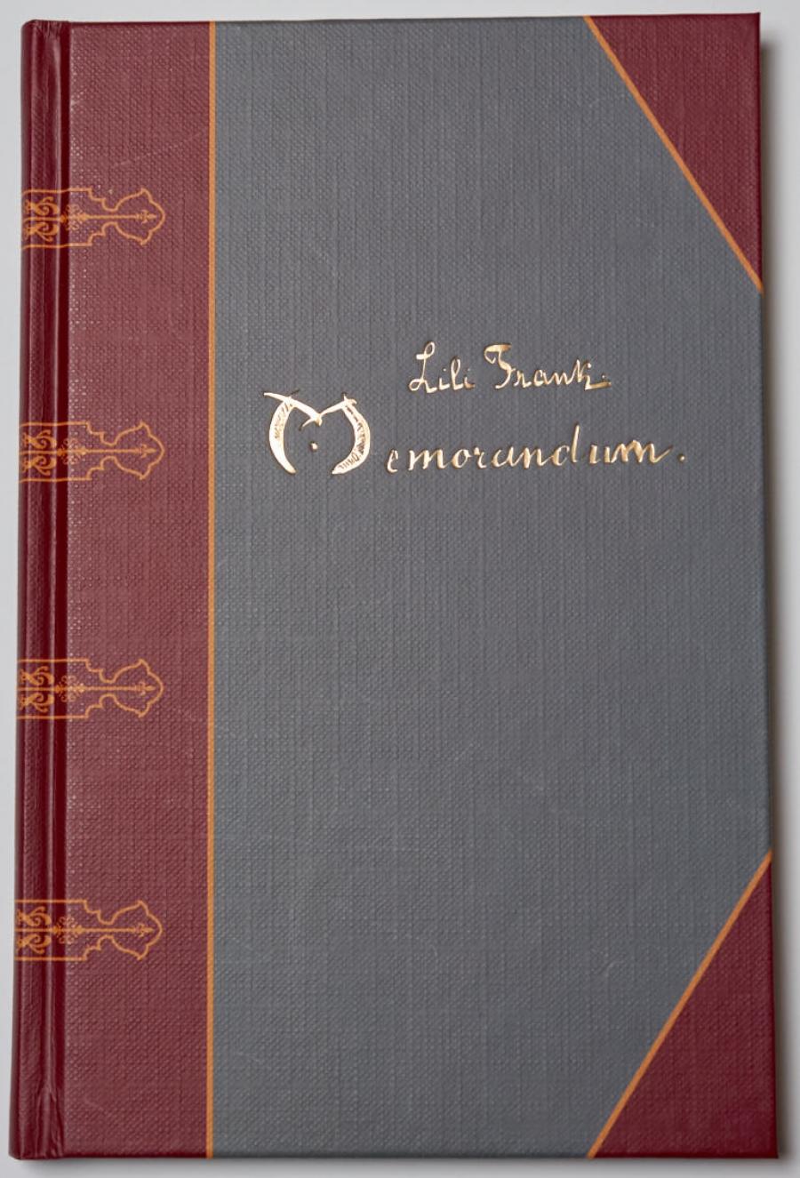 Lili Frank:Memorandum. Ein Poesiealbum 1909-1929