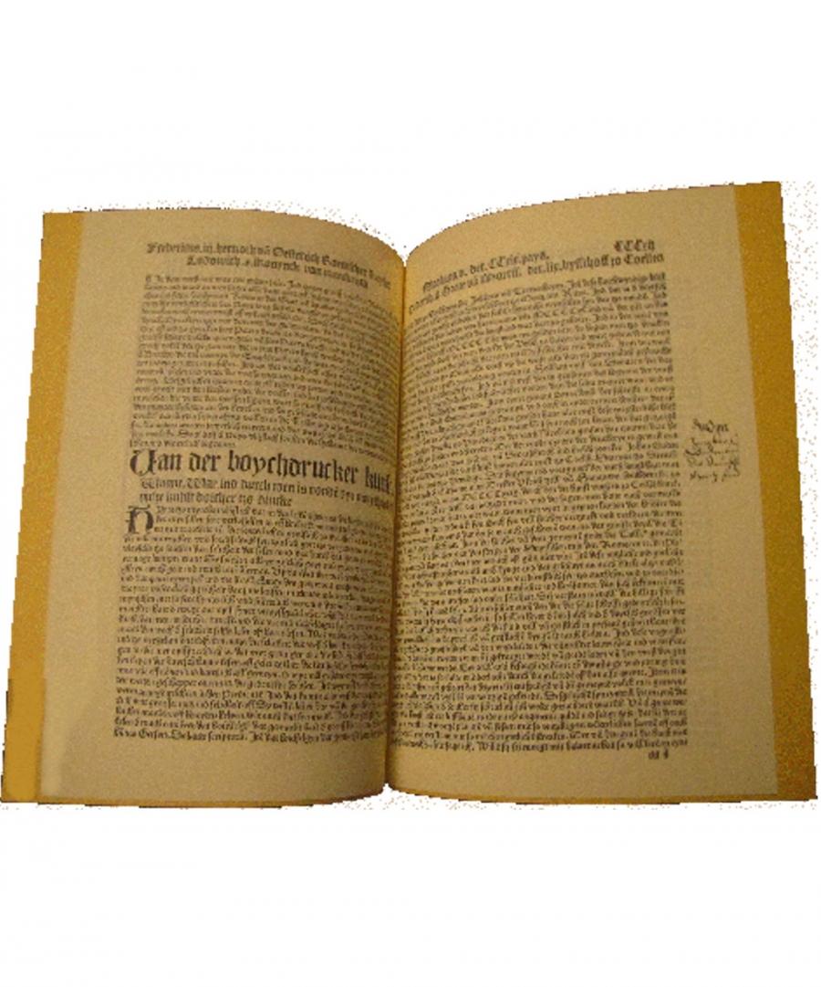 Van der boychdrucker kunst.Aus  »Die Cronica van der hilligen Statt van Coellen«