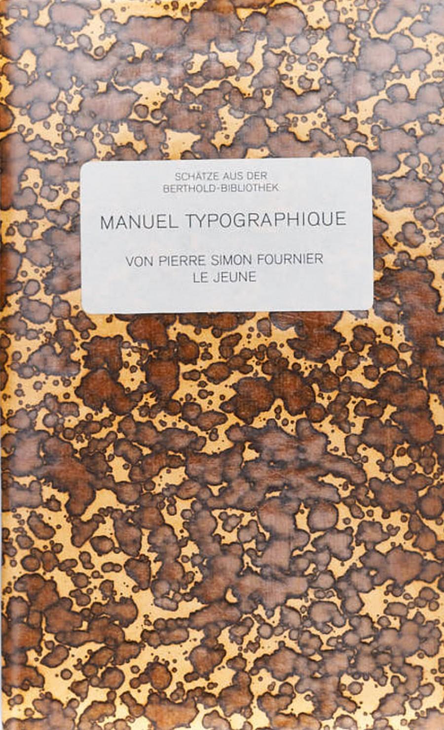 Pierre Simon Fournier, le jeune:Manuel typographique
