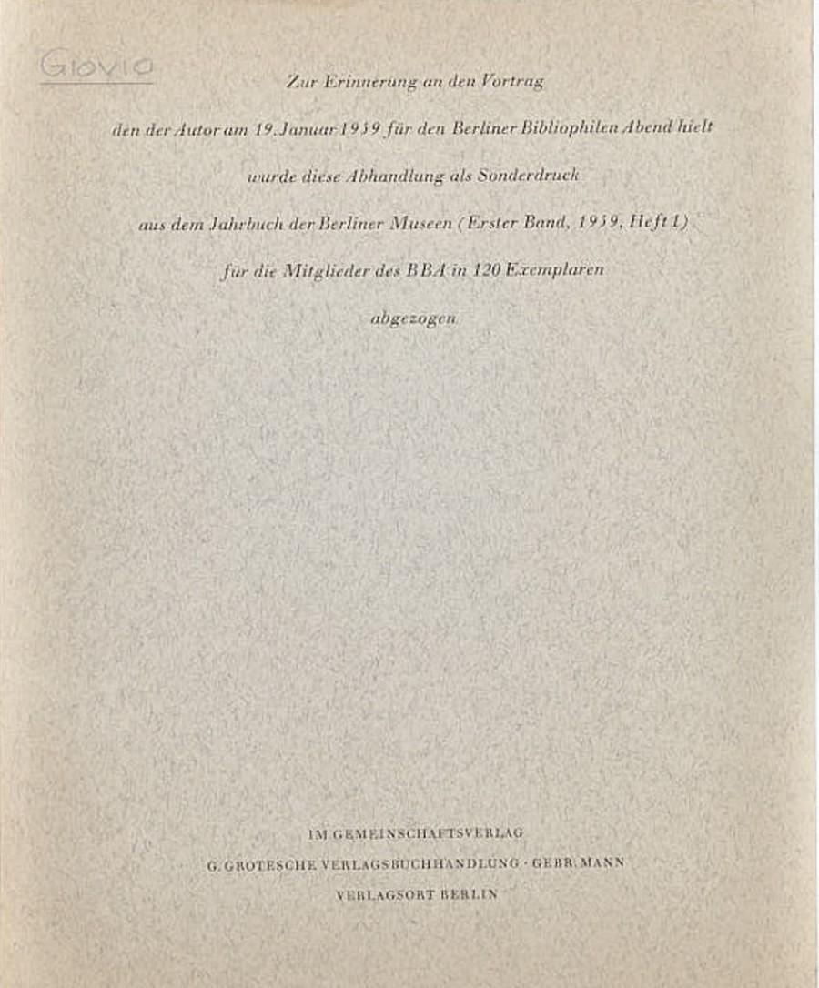 Paul Orwin Rave:Paolo Giovio und die Bildnisvitenbücher des Humanismus