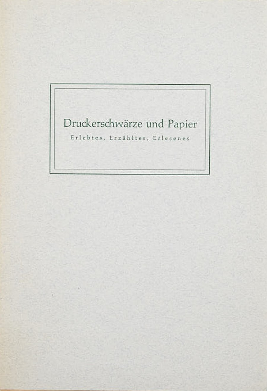 Maximilian Müller-Jabusch:Druckerschwärze und Papier